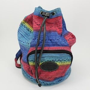 Vintage Colorful Pattern Design Sling Backpack